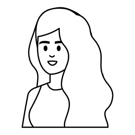 young woman female character icon vector illustration design Foto de archivo - 133907731