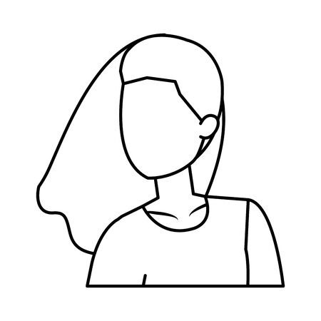 cute young woman avatar character vector illustration design Foto de archivo - 133907818