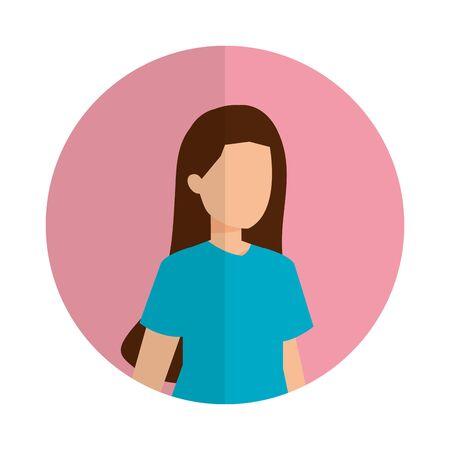cute young woman avatar character vector illustration design Foto de archivo - 133907822