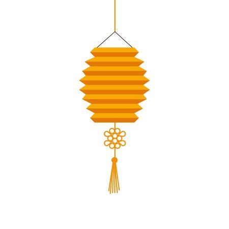 chinese decorative lamp hanging icon vector illustration design Ilustracja