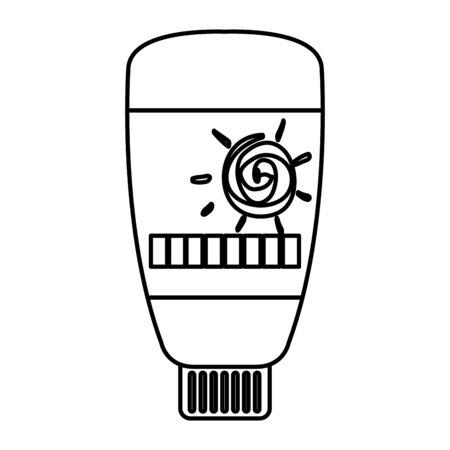 sun blocker bottle product icon vector illustration design