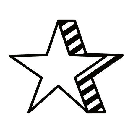 star award element isolated icon vector illustration design