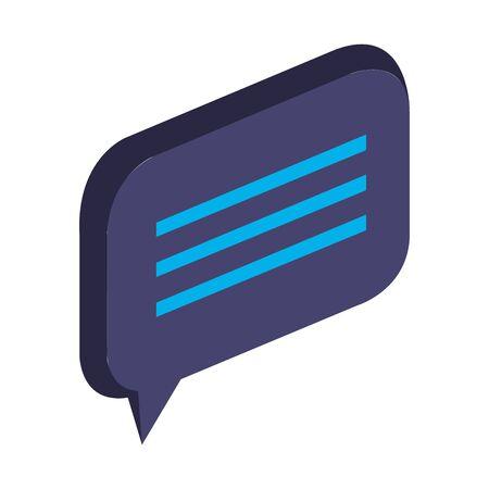 speech bubble message social icon vector illustration design