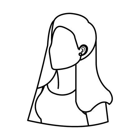 cute young woman avatar character vector illustration design Foto de archivo - 133907898