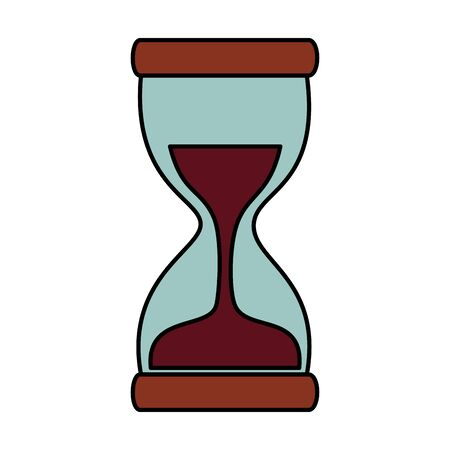 hour glass time counter icon vector illustration design