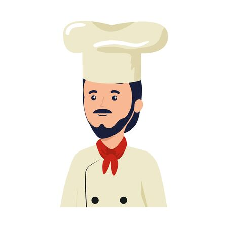 young chef worker avatar character vector illustration design Illusztráció