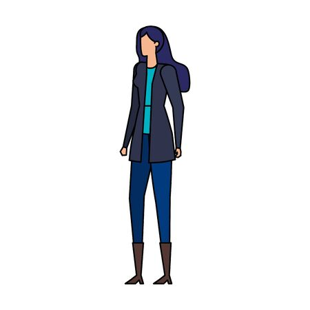 elegant businesswoman worker avatar character vector illustration design