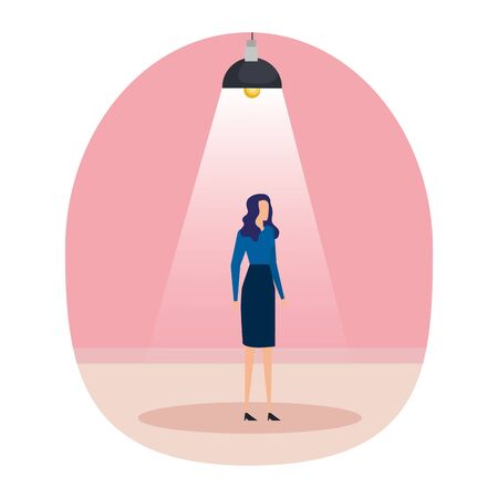 businesswoman in the workplace character vector illustration design