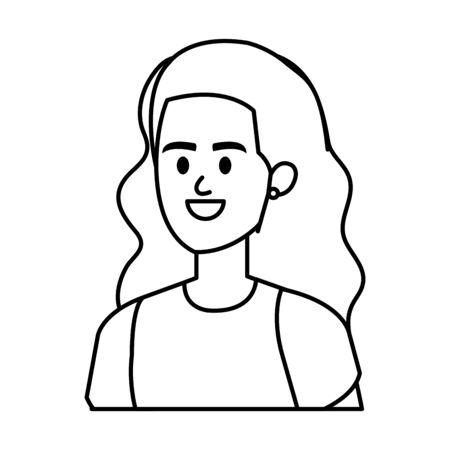 elegant businesswoman avatar character vector illustration design  イラスト・ベクター素材