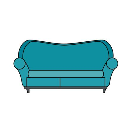 confortable sofa livingroom equipment icon vector illustration design Illusztráció