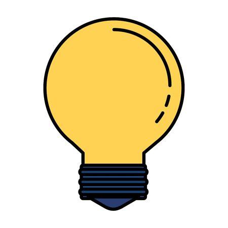 Bombilla idea pensar icono diseño ilustración vectorial
