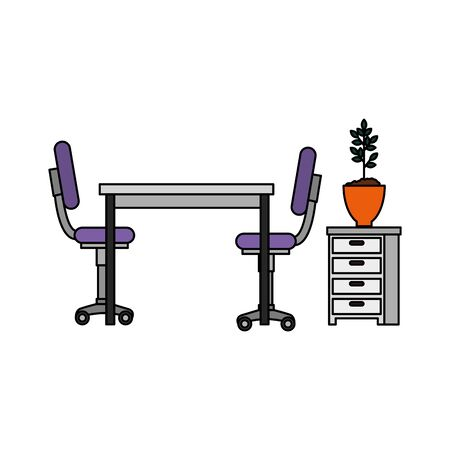 office work place scene icons vector illustration design Stock fotó - 133966047
