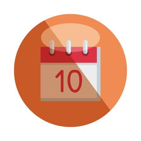calendar reminder with number ten vector illustration design Ilustrace