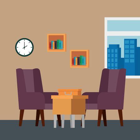 livingroom home place with sofa scene vector illustration design