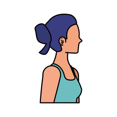 young sport woman avatar character vector illustration design Banque d'images - 133939574