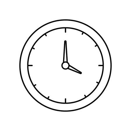 time clock watch isolated icon vector illustration design