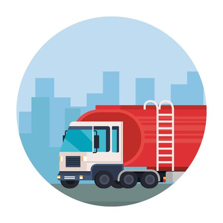 delivery service truck vehicle icon vector illustration design