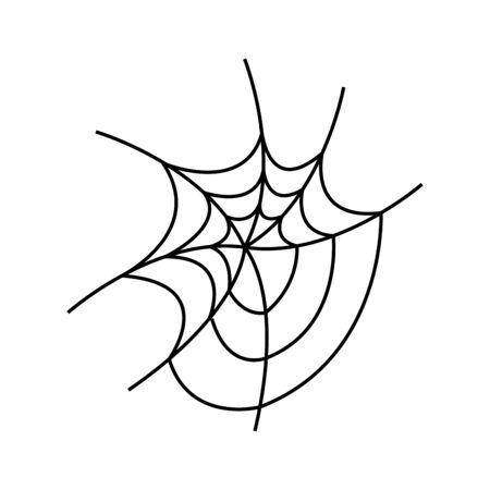 spinneweb van halloween geïsoleerd pictogram vectorillustratieontwerp Vector Illustratie