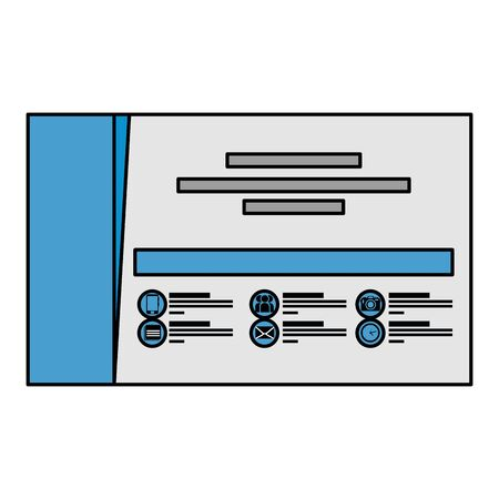 company card publicity icon vector illustration design
