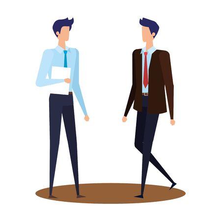 elegant young businessmen avatars characters vector illustration design Ilustracja