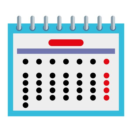 calendar date reminder isolated icon vector illustration design