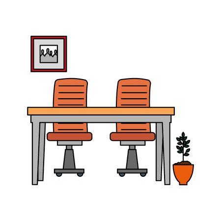 office work place scene icons vector illustration design Stock fotó - 133968016