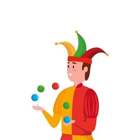 joker character fairytale avatar character vector illustration design