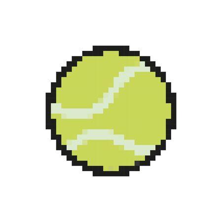 テニスボール8ビットピクセルスタイルアイコンベクトルイラストデザイン  イラスト・ベクター素材