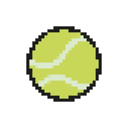 tennis ball 8 bits pixelated style icon vector illustration design Ilustração