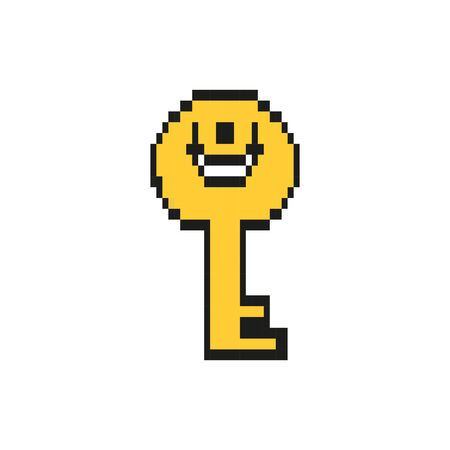 key door 8 bits pixelated style icon vector illustration design Illustration
