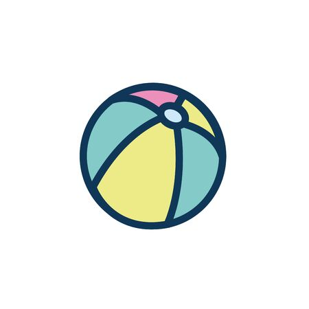 plastic ball child toy fill style icon vector illustration design