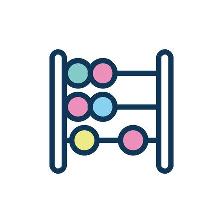 abacus child toy fill style icon vector illustration design
