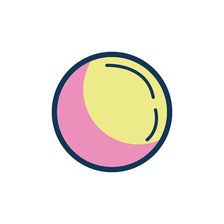 plastic balloon child toy fill style icon vector illustration design