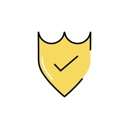 shield security with check symbol vector illustration design 일러스트