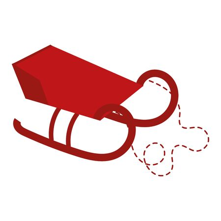 sled santa carriage isolated icon vector illustration design