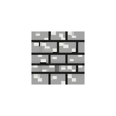 bricks wall 8 bits pixelated style icon vector illustration design