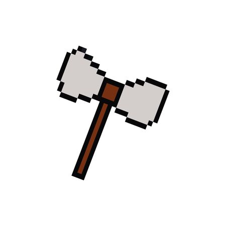 cudgel 8 bits pixelated style icon vector illustration design