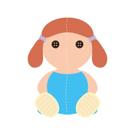 cute doll baby toy isolated icon vector illustration design