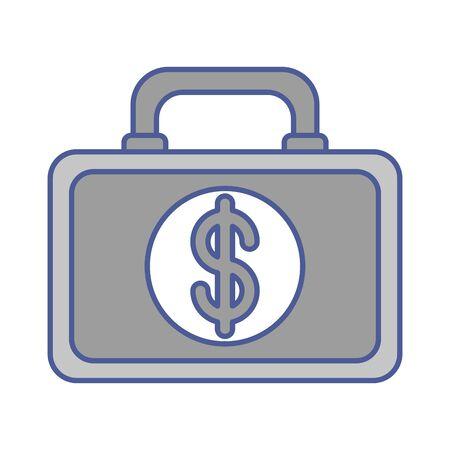 portfolio with money dollar symbol vector illustration design Foto de archivo - 133976316