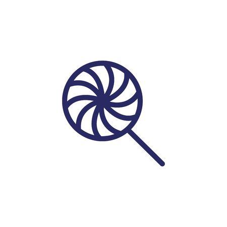 słodki lizak cukierek na białym tle ikona wektor ilustracja projekt