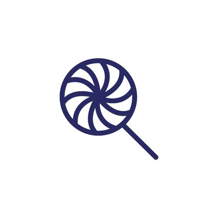 sweet lollipop candy isolated icon vector illustration design