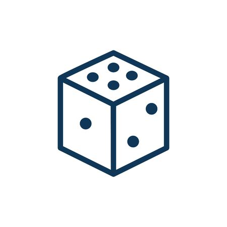 dice child toy line style icon vector illustration design