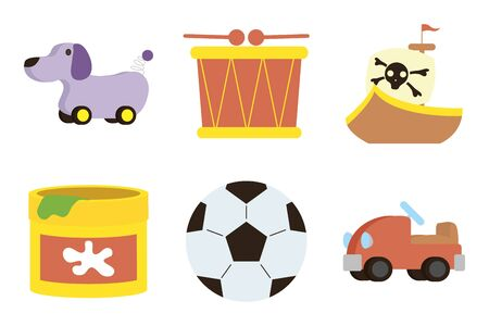bundle of baby toys set icons vector illustration design
