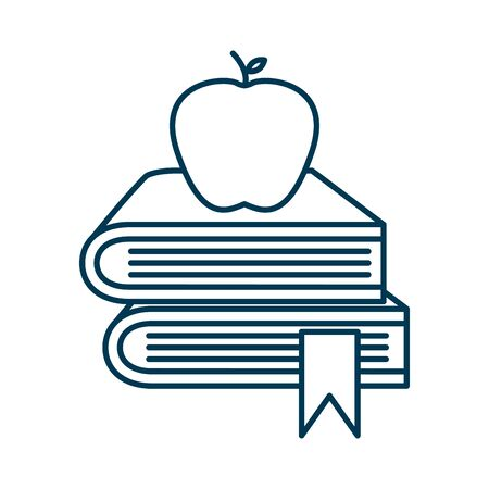 education pile text books with apple vector illustration design Foto de archivo - 134029139