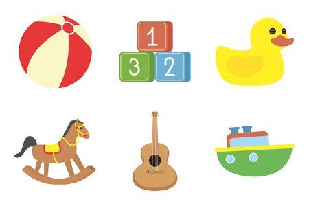bundle of baby toys set icons vector illustration design