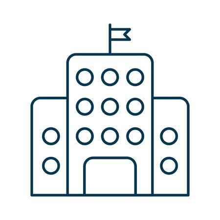 school building facade isolated icon vector illustration design
