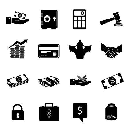 bundle of business set icons vector illustration design 일러스트