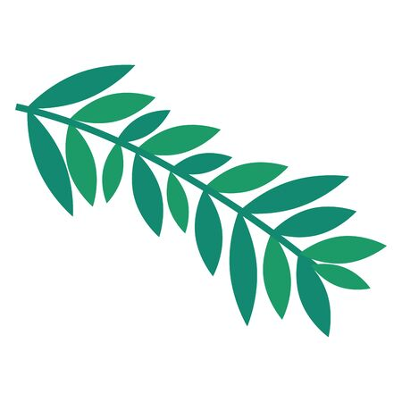 branch with leafs plant icon vector illustration design Ilustração