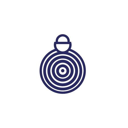 merry christmas ball with spiral lines vector illustration design