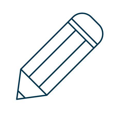 pencil education supply isolated icon vector illustration design Illustration